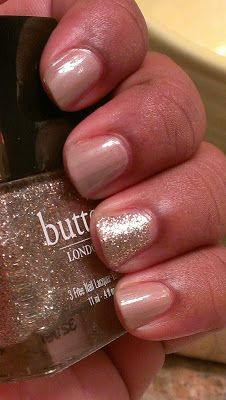 butter london yummy mummy / butter london the 444 (an AMAZING champagne shimmer, a fashion week exclusive. love.)
