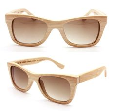 handmade bamboo brown sunglasses