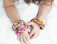 Crepe Paper Bracelets DIY - Things to Make and Do, Crafts and Activities for Kids - The Crafty Crow