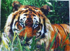 """Купить Картина бисером """"Тигр"""" - ручная ..."""