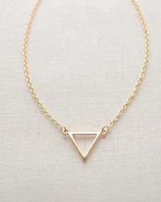 Triangle necklace by Olive Yew in gold or silver from $26.00