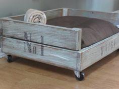 DIY dog bed made out of pallets cat beds, doggie beds, dog crates, pet beds, dog beds, mattress, puppi, vintage diy, old pallets