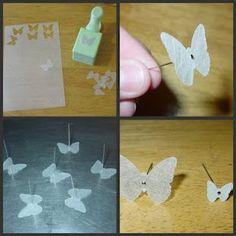 Butterfly pins in shrinky dink
