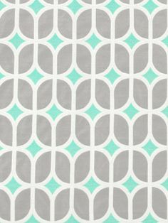Turquoise Fabric  Gray and Turquoise by PopDecorFabrics on Etsy, $89.00