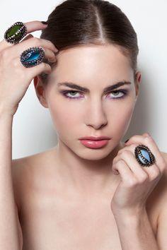 """Queen of rings"" STILO MAGAZINE (March 2013) CHECK OUT ALL THE RINGS HERE http://www.birikbutik.com/en/statement-rings.html  ph. Valentina De Meo  Anne / 2day model  MUA: Giuditta Bedetti make up"