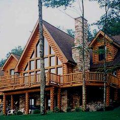 Log cabins. :)