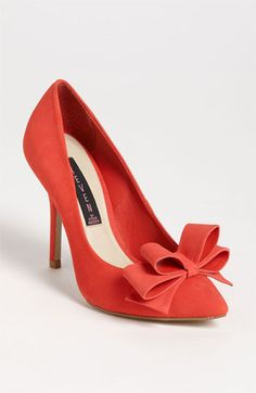 Coral Bow Heels - just ordered these. So excited.