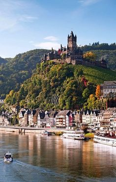 Would love to visit here!   Reichsburg Castle, Cochem, Germany