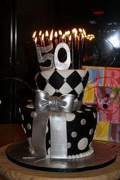 50th Birthday Topsy Turvy Cake