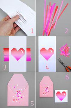 Woven heart card