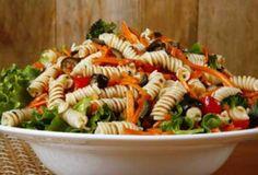 Pasta Veggie Fruit Salad - Quick and Easy One Dish Summer Menu