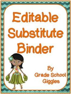 FREE! This product includes forms to create a substitute binder for your classroom. Having a substitute binder allows you to be prepared for the unexpect...