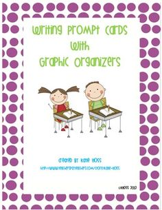 Use the following writing prompt cards/graphic organizers to promote interesting and organized writing.  Great for use as a writing center and to e...