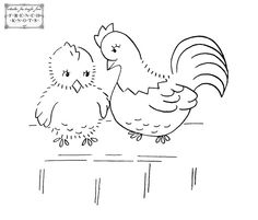 free primitive stencils | ... : Roosters, chickens, turkeys, flowers and free stitchery pattern