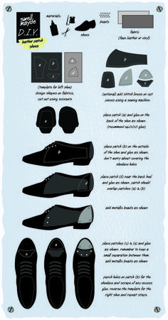 #DIY Leather Patch Shoes
