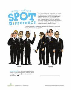 Worksheets  Secret Service AgentsSecret Service Agents Badge