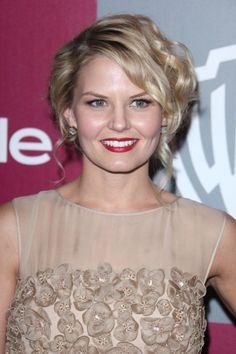 Jennifer Morrisons blonde, updo hairstyle