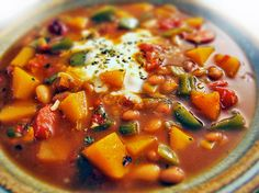 Favorite chili. The butternut squash adds sweetness to the spice.