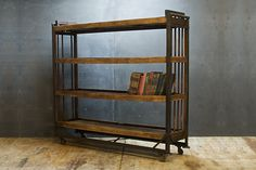 Industrial Steel Factory Cart. Greatest bookcase!