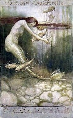 mermaid postcard by mica12244art, via Flickr