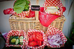 food displays, birthday, picnic parti, picnic foods, picnic theme, food tables, picnics, parti idea, picnic baskets