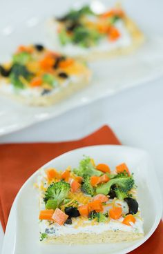 Veggie Pizza Appetizer- love this for summer picnics!