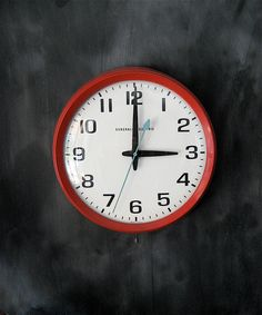 I want a Wall Clock like this for my office - the colors on this are perfect! SOLD :(