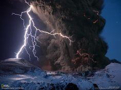 Eyjafjallajkull Volcano / Iceland. By Sigurdur Hrafn Stefnisson. See more here http://news.nationalgeographic.com/news/2010/04/photogalleries/100419-iceland-volcano-lightning-ash-pictures/