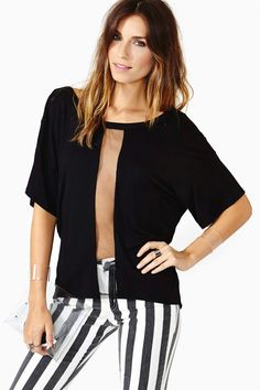 nasty gal. knotted line tee. #fashion