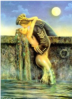 Mermaid and a Sailor - David Delamare