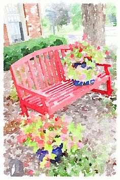 Turning your pictures into water colors.  So easy and so pretty!  Waterlogue color art, watercolor paintings, water color ideas