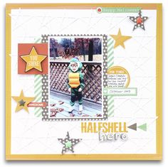 Halfshell Hero - Scrapbook.com - Made with Chickaniddy Crafts Scrumptious collection.