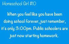 Homeschool girl funny