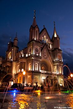 Santíssimo Sacramento Church,at Itajaí city,Santa Catarina,Brazil