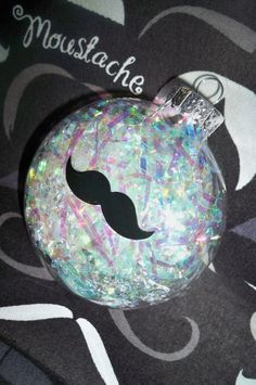Handmade Glass Mustache Holiday Ornament by dawneedooville on Etsy, $7.99
