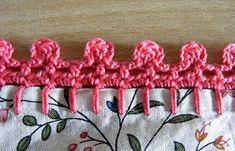 Bobble Crochet Pillowcase Edge (p)