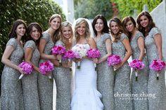 Sequin glitter Bridesmaid Dresses!
