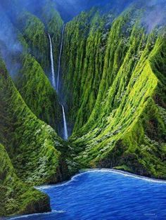 Hawaii Waterfall, Molokai