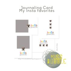 Free My Insta Favorites Journal Cards #freebie #projectlife