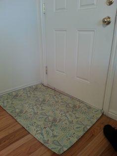 How to make a homemade rug! DIY tutorial.