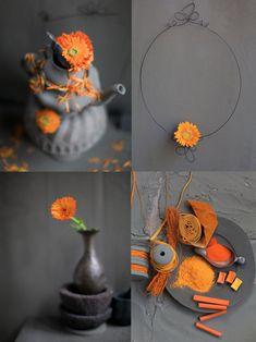 Orange and Grey Color Combination by Dietlind Wolf // Оранжево-сива цветова комбинация от Диетлинд Уолф   79 Ideas