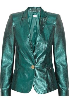 #Faith Connexion�|�Metallic leather blazer�|�NET-A-PORTER.COM  women jacket #2dayslook #new #fashion#nice  www.2dayslook.com