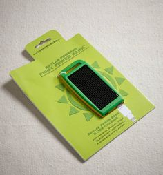 Solar Powered Charger for Camping!!! #goGreen