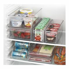 Fridge organizers from Crate and Barrel. WANT!!!