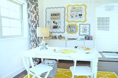 frame, organiz wall, craft organization, organized office, the craft, offic idea, home offices, curtain, craft rooms