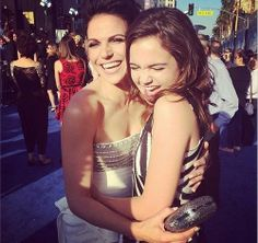 Lana Parrilla & Bailee Madison at the world premiere of 'Maleficent' - May 28, 2014