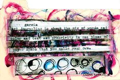 Mixed media index card by Tammy of DaisyYellow, #ICAD #indexcard