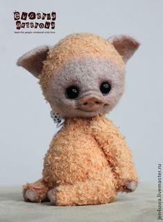 Мишки Тедди ручной работы: поросенок Пиглс. Handmade.
