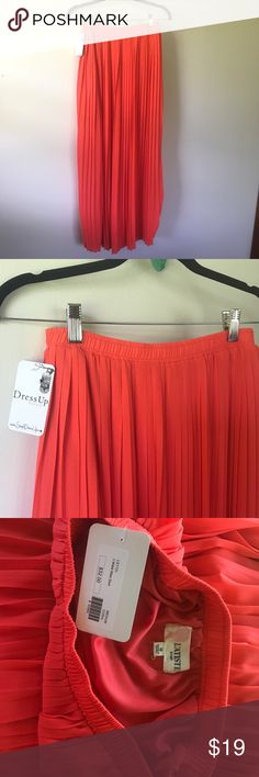 Orange pleated maxi