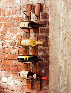 Wine rack from barrel